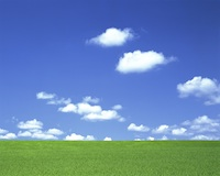 Clouds and Green Field